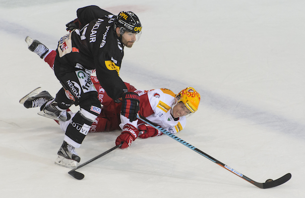 EISHOCKEY, NATIONAL LEAGUE A, NATIONALLIGA A, SAISON 2015/16, MEISTERSCHAFT, HOCKEY SUR GLACE, QUALIFIKATION, SAISON 2015/16, HC FRIBOURG GOTTERON, GOTTERON, LAUSANNE HC, LHC,