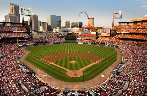25 July 2007: The St. Louis Cardinals play the Chicago Cubs at Busch Stadium in St. Louis MO.